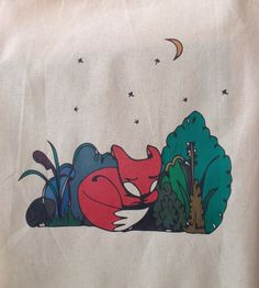 A personal favourite from my Etsy shop https://www.etsy.com/uk/listing/254203109/sleeping-fox-canvas-tote-bag