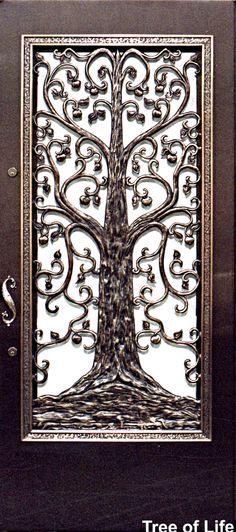 **looks like something Uncle Dave would make** tree of life - bronze work Door Knockers, Door Knobs, Indoor Gates, House Trim, Security Door, Photo Tree, Tree Of Life, Architecture Details, Furniture Design