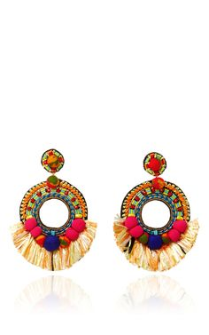 Fringed Drop Earrings by RANJANA KHAN Now Available on Moda Operandi