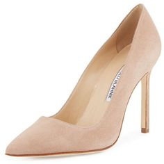 4362f0bf77a2 Manolo Blahnik BB Pointy Toe Pump in Beige Suede - Meghan Markle s Shoes