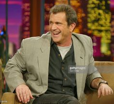 Actor Mel Gibson talks about his new movie 'Passion of Christ' with Jay Leno at the Tonight Show with Jay Leno at NBC Studios on February 26, 2004 in Burbank California.