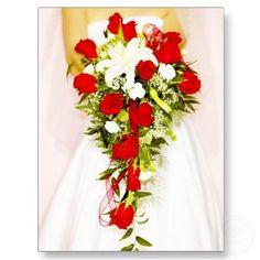 DIY Wedding Bouquet - How to Make a Bridal Cascading Bouquet With Fake Flowers Fake Wedding Flowers, Cascading Wedding Bouquets, Rose Bridal Bouquet, Bridal Shower Flowers, Cascade Bouquet, Diy Wedding Bouquet, Diy Bouquet, Bridesmaid Flowers, Fake Flowers