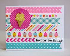 Snippets By Mendi: Doodlebug Designs Sugar Shoppe Birthday Card.