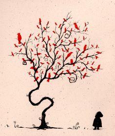 birds in a tree - so sweet!