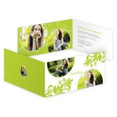 Designvorlage - Geburtstagseinladung als Klappkarte Din lang quer im Frühlings-Design. | Online-Druck.biz | #birthday #print #design
