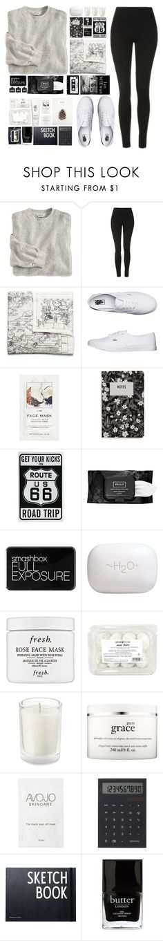 """""""City Scape"""" by dn8-35 ❤ liked on Polyvore featuring Topshop, Acne Studios, Vans, H&M, Design Letters, Kat Von D, Smashbox, H2O+, Fresh and philosophy"""