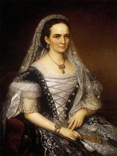 Baroness Kata Radák, Mrs. János Antos Rétyi by Miklós Barabás (private collection)