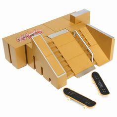 2PC Fingerboards Professional Finger Board Skate Park Ramp Parts Ultimate Parks 91C w/Box For Tech Deck Fingerboard Finger Board