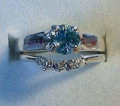 Hey, I found this really awesome Etsy listing at https://www.etsy.com/listing/107383652/wedding-ring-set-blue-zircon-and-white