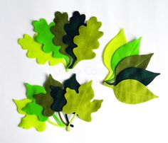 Felt Leaves, 15 pieces, Die Cut Shapes, felt shapes, Party Supply, DIY Wedding, Scrap supply, pre cut felt shapes