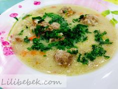 Köfte çorbası - Bulgarian Supa Topcheta Bulgarian Recipes, Bulgarian Food, Trendy Outfits, Kids Outfits, Palak Paneer, Soups And Stews, Hummus, Risotto, Kids Fashion