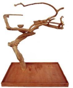 Java Wood Tree Parrot Play Stand Medium Single