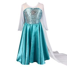 EA Selection Girls Princess Dress Fest Party Cosplay Costume Dress Blue 9yr