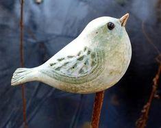 Garden ceramics workshop by BrigittePeglow since 1978 Garden Ceramics Workshop by BrigittePeglow on Etsy since 1978 Clay Birds, Ceramic Birds, Ceramic Animals, Clay Animals, Ceramic Mugs, Ceramic Pottery, Pottery Art, Pottery Workshop, Ceramic Workshop