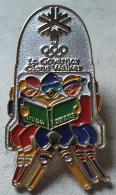 Salt Lake 2002 Lt Governor Olene Walker Skiers Ski Lift Utah Teams Olympic Pin  - This Item is for sale at LB General Store http://stores.ebay.com/LB-General-Store ~Free Domestic Shipping