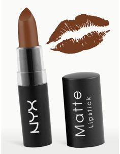 NYX Matte Lipstick - Maison: I cannot say enough about this shade. It is matte and beautiful and classy and EXCELLENT for brown-skinned women. I bought three tubes of this from Optima in Jackson Heights, Queens, NY. Again, try to go to this location if you are a NYX fan...their selection is HUGE!!