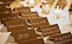 Solid Gold Escort Cards