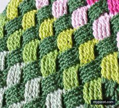 Crochet Basket Weave Stitch - Free Crochet Pattern - New Craft Works Basket Weave Crochet Blanket, Crochet Bowl, Free Crochet, Crochet Afghans, Crochet Poncho Patterns, Crochet Designs, Basket Weaving, Light Blue, Needlework