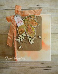 Stampin' Up! Halloween Cards, Fall Halloween, Stampin Up Paper Pumpkin, Pumpkin Cards, Leaf Cards, Thanks Card, Thanksgiving Cards, All Paper, Fall Cards