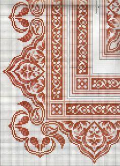 Learn to Crochet – Crochet Wave Fan Edging. Cross Stitch Boarders, Cross Stitch Pillow, Cross Stitch Flowers, Cross Stitch Designs, Cross Stitching, Cross Stitch Patterns, Border Embroidery Designs, Embroidery Patterns, Blackwork Embroidery