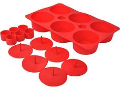 Safstar 6 Mould Cupcake Cake Making Set Silicone Muffin NonStick Filled Baking Pan Red * You can find out more details at the link of the image.