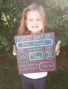 1st day of school chalkboard, back to school chalkboard sign, reusable, photo prop by neimansvinylnthings on Etsy https://www.etsy.com/listing/260005168/1st-day-of-school-chalkboard-back-to