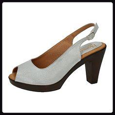 NOELIA ,  Damen Sandalen , silber - silber - Größe: 37 - Sandalen für frauen (*Partner-Link)