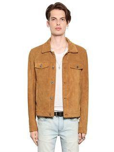 BLK DNM Clean Cut Suede Jacket, Tan. #blkdnm #cloth #leather jackets