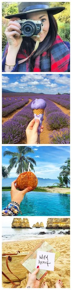 Brooke Saward worldwanderlust on IG documents travel with creative Selfies including culinary cuisines or rather her love of ice cream ;)   http://www.selfiesebook.com/