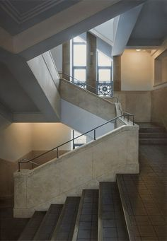 Paintings of Architectural Photorealism. Hisaya Taira creates Paintings representing Architecture at its purest. More information and more images from this Artist, Press the Image.