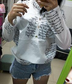 Women Turn Down Collar Button Letter Long Sleeve Casual  Mini Shirt Dress #T