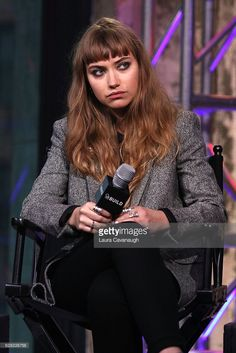 Imogen Poots attends Build Presents to discuss the film 'Frank And Lola' at AOL HQ on December 7, 2016 in New York City.