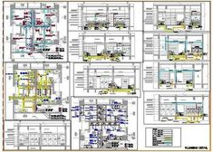 Toilet Plumbing Detail with Pipes and fittings - Autocad DWG Pvc Pipe Fittings, Plumbing Drawing, Drainage Pipe, Floor Drains, Pipe Sizes, Floor Layout, Concept Architecture, Water Supply, Autocad