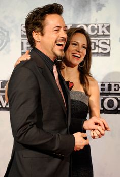 "Robert Downey Jr. and Susan Downey, ""Sherlock Holmes"" premiere"