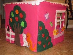best one Love and Some Verses: Felt Card Table PLAYHOUSE!
