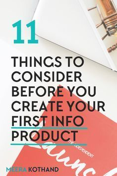 Creating your first passive info product to take your blog business further Beyond the hype of how 'passive' info products are, there are lots of things to consider before you launch yours. Here are 11 tips to think about before you create your first. #4 is a must!