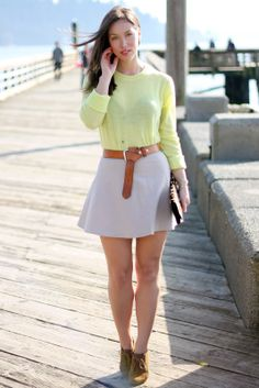 fresh look with circle skirt