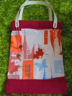 Taschenprojekt! Ted, Reusable Tote Bags, Diy Crafts, Texture, Creative, Blog, Oilcloth, Projects, Totes