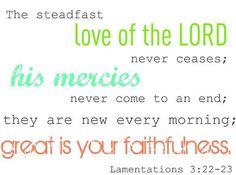 His Mercies!