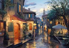 After the Rain by Eugene Lushpin 2000 piece jigsaw puzzle