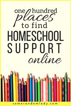 Homeschool groups, facebook groups, and online support. Find homeschool support and encouragement online. Click through for a list of 100 groups and forums for homeschoolers. #homeschooling #homeschool #support