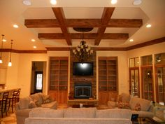 ceiling design | Ceiling designs gallery tri city interiors inc coffer ceiling designs ... #CeilingDesign