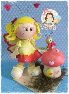 """""""FOFUCHAS""""  3D Foam Handcrafted Doll.... 100% Foamie made with Foam Paper, Foam Sheets & Fabric ((3D Craft Foam Art))"""