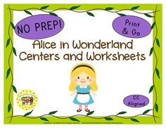 37 Alice in Wonderland Print and Go printables.
