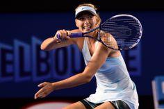 Maria Sharapova during her first round match. Aust Open 2014 - Ben Solomon/Tennis Australia