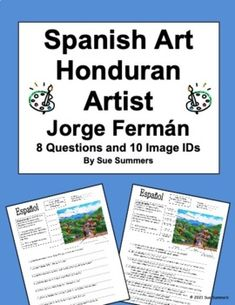 Spanish Art - Honduran Artist Jorge Fermán 8 Questions and 10 Image IDs Vocabulary Practice, Grammar And Vocabulary, Hispanic Art, Hispanic Heritage Month, Spanish Art, Blended Learning, Spanish Language, Learning Spanish, How To Become