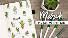 PLAN WITH ME | March 2018 Bullet Journal Setup