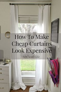 Make Extra Long Curtains Using Inexpensive Bed Bath And