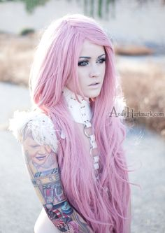 Gorgeous hair, and I love her sleeve