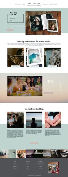 Holl & Lane is running on Station Seven's Fable Squarekit for Squarespace. Get this minimal and modern Squarespace design that's easy to edit for your website, just click through this pin! It also comes with Photoshop files to create the look you want.